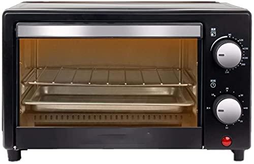 Mini horno con asador, 12 litros Capacidad Temperatura 0-230 ° 60 minutos Potencia de control 1100W Diseño de parrilla de doble capa, Mini horno de torre, 220V