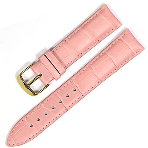 LIANYG Correa De Reloj Banda de Reloj Correas de Cuero Genuino Relojes 12 mm 18 mm 20 mm 22mm de Reloj Accesorios 493 (Band Color : Pink Gold, Band Width : 22mm)