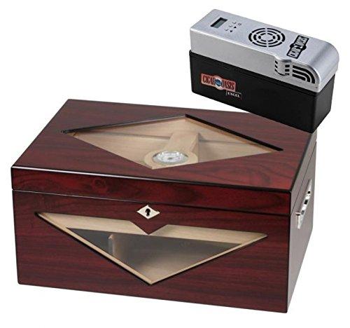 Lifestyle-Ambiente Cigar Oasis EXCEL Design-Humidor Kirschbaumfinish 100 Zigarren V-1320 inkl Tastingbogen