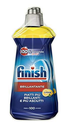 Finish Brillantante, Additivo Lavastoviglie, 2 Prodotti da 500 ml, Limone