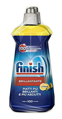 Finish Brillantante, Additivo Lavastoviglie, 2 Prodotti da 500 ml, Limone