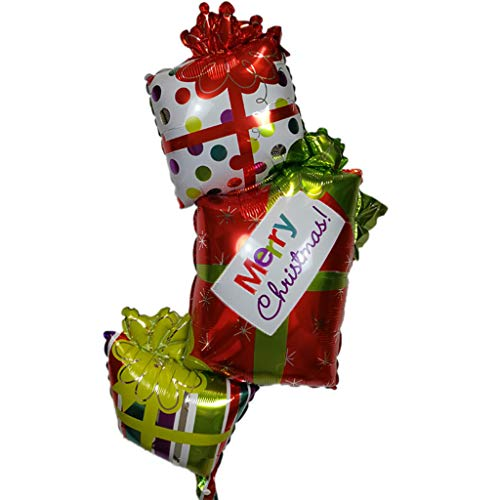 WINJEE, Kerstballon Gif aluminiumfolie ballonnen verjaardag kerstfeest benodigdheden Dec