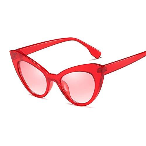 Gafas De Sol Gafas De Sol De Moda Retro para Mujer Gafas De Sol Vintage para Mujer Dama Uv400-Red