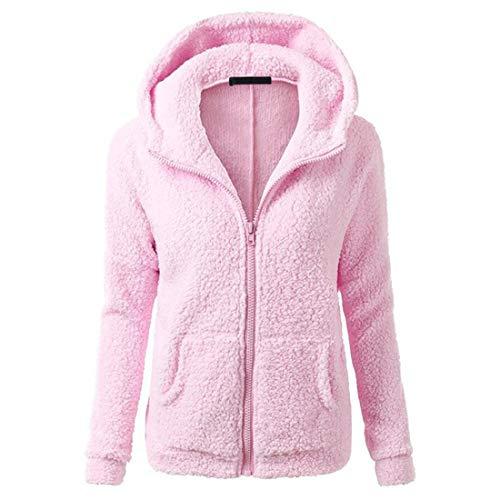 Damen Kapuzenjacke Teddy Fleece Plüschjacke Casuale Warm Zip Hoodie Kapuze Sweatshirt Furry Outwear Mode Jacke Windbreaker Jacke Hochwertige Klassisch Hoodie 3XL
