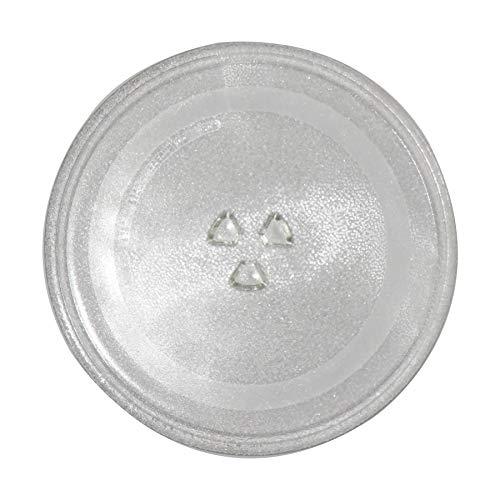 Plateau en verre de rechange pour micro-ondes, diamètre de 31,5 cm, résistant à la chaleur et à la chaleur pour four à micro-ondes.