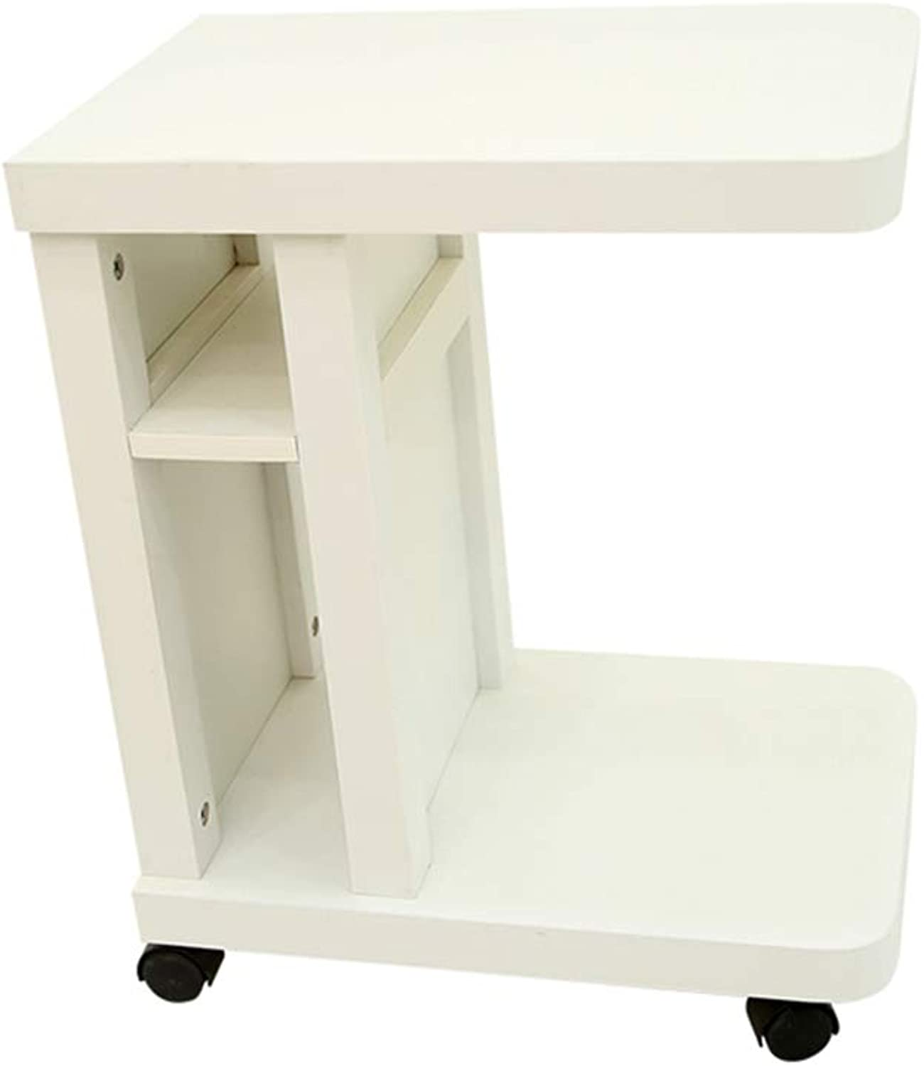 GJM Shop Bedside Cabinet Coffee Table Open Style Storage Simple Can Moving Bedside Table Furniture (color   3)