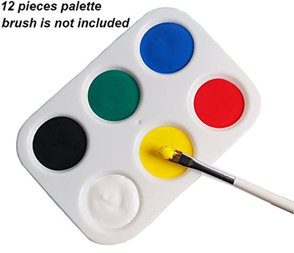 12 Pieces Paint Tray Palette,6 Wells,4.92 by 3.38 inch
