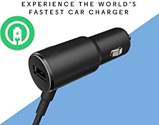 Turbo Fast Powered 25W Car Charger Works for Samsung Galaxy On5 with Extra USB Port and Long Hi-Power MicroUSB Cable!