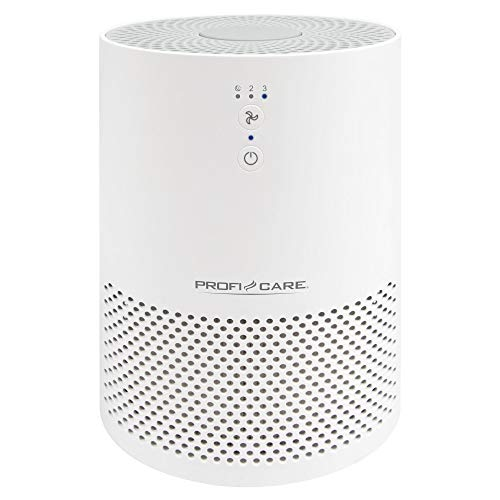 ProfiCare PC-LR 3075 Luftreiniger für Räume bis zu 20m², EPA-Filter, 2 Filterstufen, 3 Leistungsstufen, Sensor Touch-Bedienung, weiß