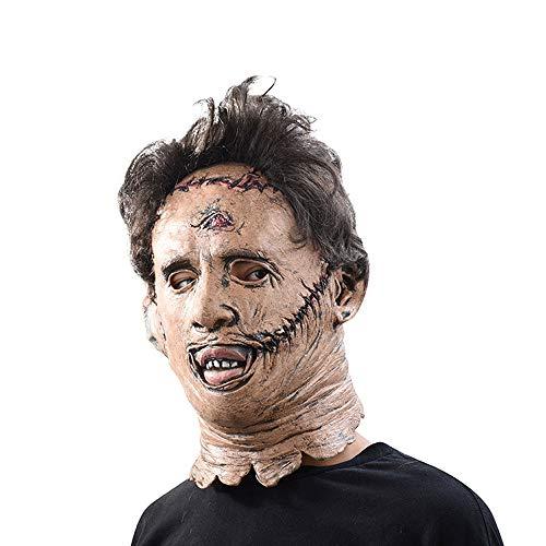 XDDXIAO Die Texas Chainsaw Massacre Leatherface Masken Scary Movie Cosplay Halloween Kostüm Requisiten Hohe Qualität Spielzeug Party Latex Maske