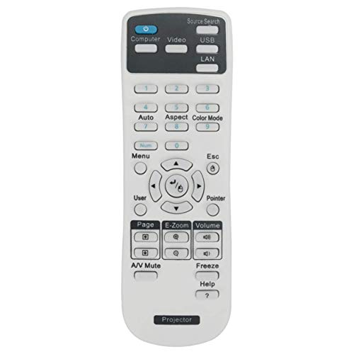 VINABTY Telecomando per Epson proiettore EH-TW5200 / EHTW5200 EB-S31 / EBS31 EB-108 2042 2142W EB-S27 EB-X27 EB-X27 EB-X29 EB-W29 99WH 955WH