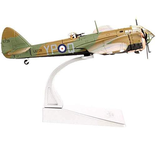 XHH Modelo de avión Military Fighter Alloy Die Cast Model, Escala 1/72 Bristol Blenheim Mki Light Bomber Model, Juguetes y Decoraciones para Adultos, 7.1 Pulgadas x 9.1 Pulgadas
