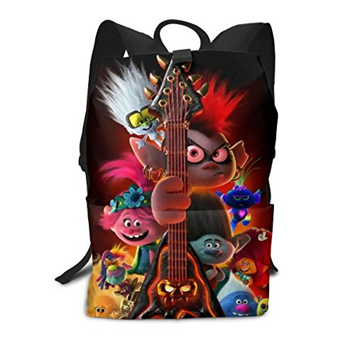 Xaler Trolls World Tour Youth Backpack School Travel Bags Shoulder Bag for Boys Girls