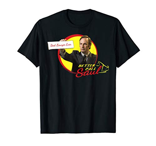 Better Call Saul Best Lawyer Ever Circle Portrait Logo T-Shirt