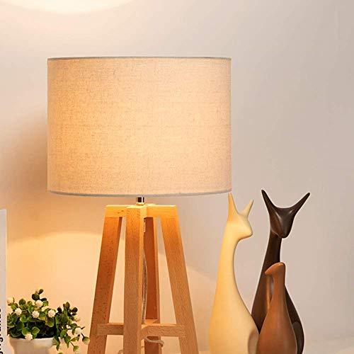 CENPEN Lámpara de mesa decorativa minimalista escandinava moderna para dormitorio, lámpara de mesa de madera con personalidad creativa para sala de estar, 25 x 45,5 cm de alto sabor
