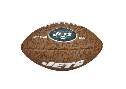 NFL Team Logo Mini Football, Brown - New York Jets