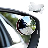 CUNCUI 2pcs Blind Spot Mirror, 360 Degree Adjustabe HD Glass, 2' Round HD Glass Convex Rear View Mirror, for any Car,...
