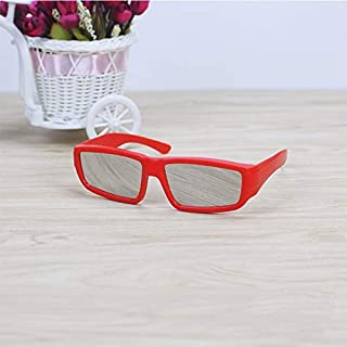 SGJFZD ABS Frame Solar Eclipse Glasses Eye Fashion Design Protection Safe Solar Viewer (Color : Red)