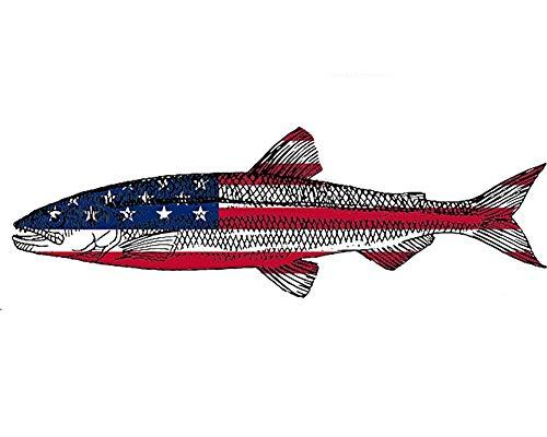 Forellenfisch USA Flagge Aufkleber Aufkleber Angeln Stoßstange Aufkleber Fisch Patriotische United Auto Aufkleber Auto LKW Boot RV Real Life Rute Tackle Box