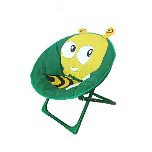 Silla plegable JYSPT para niños, silla de dibujos animados, silla de luna para casa, al aire libre, playa, camping, silla reclinable para bebé