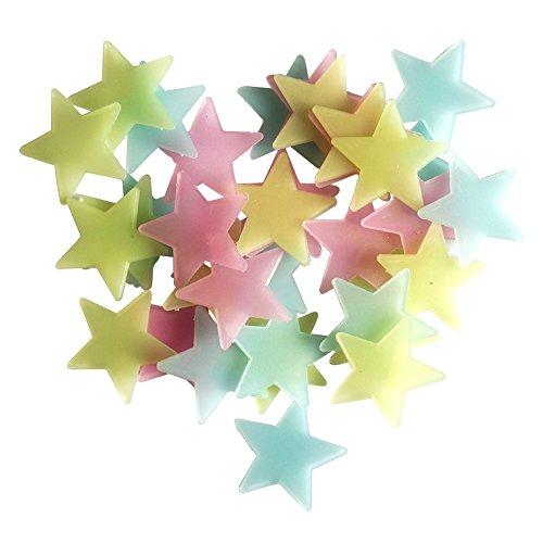 ZUMUii Butterme 25/50/100pcs Lueur dans l'étoile Noire Brillante étoiles et la Lune noctilucents décoratifs stéréoscopiques Stickers muraux pour Sticker Chambre bébé Kid