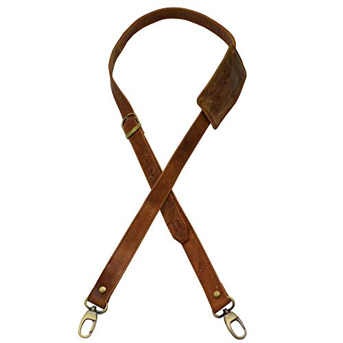 flevado Riemen Gurt Lederriemen für Taschen Handtasche Umhängetasche in 3 Farben wählbar (Hellbraun)