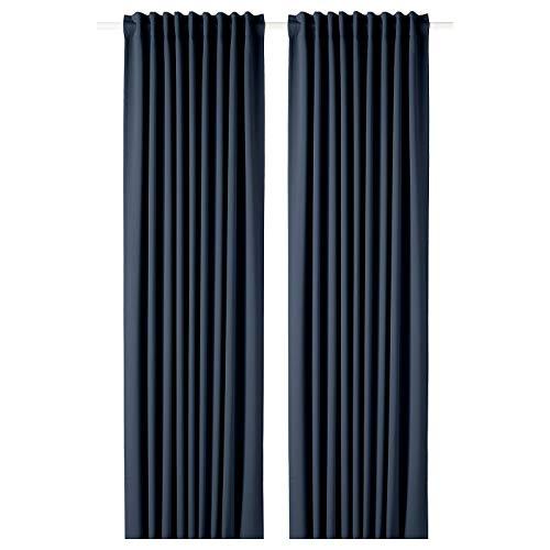 IKEA MAJGULL Verdunkelungsvorhang, 145 x 300 cm, 1 Paar, Blau