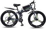 Bici electrica, 26 bicicletas de montaña eléctrica plegable pulgadas for Adultos con 36V 350W del motor 21 de velocidad de engranajes y 3 Modelo de funcionamiento eléctrico E-Bici marco de la nieve de