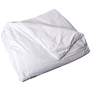 Floppy Ears Design Waterproof Breathable Duvet Comforter Cover Protector, King Size, 105  W x 90  L, White