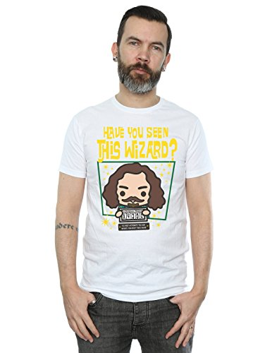 HARRY POTTER Hombre Sirius Black Azkaban Junior Camiseta XXX-Large Blanco
