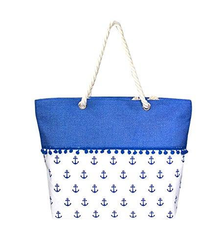 Strandtasche, Anker mit kleinen Bommeln