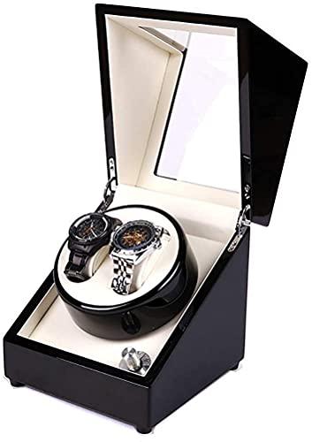 NZDY Binder Automático de Doble Reloj 5 Configuración Del Modo de Rotación con Motor Super Silencioso Premium Exterior Exterior Exterior Y Reloj Flexible Soft Flews Reloja Automático Winder