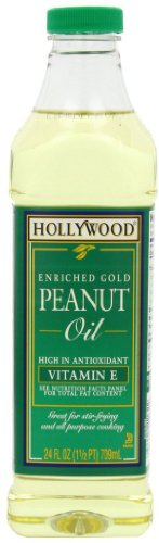 Hollywood Peanut Oil, 24 Ounce Bottles (Pack of 12)