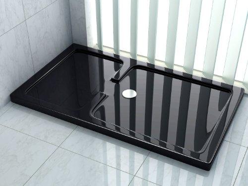 50 mm douchebak voor OPEN 150 x 90 (für Open) cm zwart