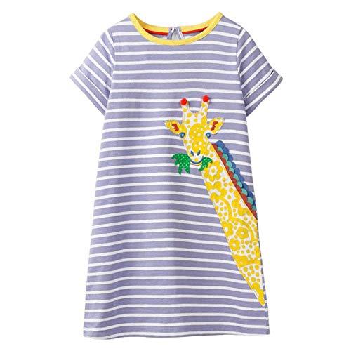 Vestidos para Niñas, Vestido T-Shirt Manga Larga y Corta Al