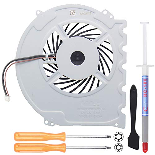 YEECHUN Replacement Internal Cooling Fan KSB0912HD for Sony Playstation PS4 Slim CUH-2015A CUH-2016A CUH-2017A CUH-20xx CUH-21xx CUH-22xx Series (with Screwdrivers T8+T10,Thermal Paste,Spatula)