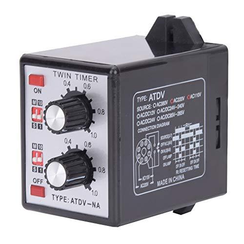 ATDV-NA Alta confiabilidad ajustable AC110V / 220V Encendido Apagado Temporizador doble Perilla de control Interruptor temporizador Relé CMOSIC Ahorro de energía para sistemas de control de