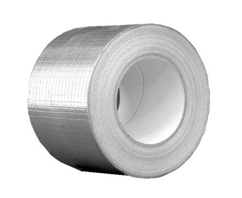 Nastro adesivo in alluminio con rete di rinforzo, 48 mm x 50m, per impianti di ventilazione e condizionamento