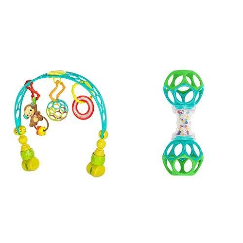Bright Starts, Arco de Juego Flex 'n Go + Oball Shaker, Juguete para bebés
