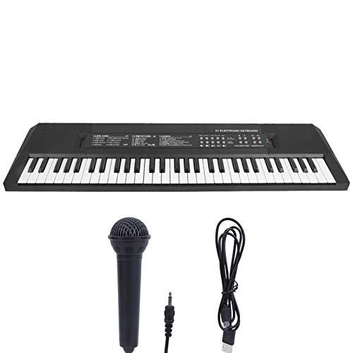 Teclado eléctrico Piano de 61 teclas Instrumento musical para niños Micrófono de...