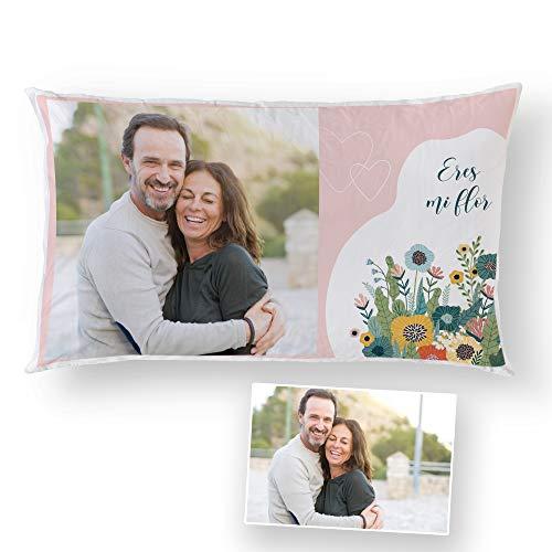 Fotoprix Almohada San Valentín Personalizada con Foto y Texto | Regalo Parejas y Novios | Diseños de Amor (Enamorados, 30 x 50 cms)