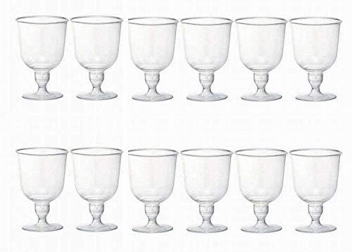 使い捨て ワイングラス プラスチック製 ワインカップ 12個 キャンプ や アウトドア に最適 CYM331