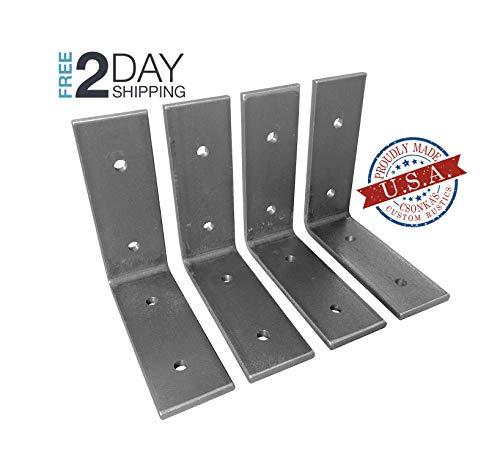 4 Pack - 4L x 4H Angle Shelf Bracket, Iron Shelf Brackets, Metal Shelf Bracket, Industrial Shelf Bracket, Modern Shelf Bracket, Shelving