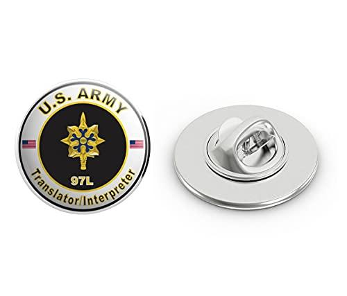 Veteran Pins U.S. Army MOS 97L Translator/Interpreter Metal 0.75' Lapel Hat Pin Tie Tack Pinback