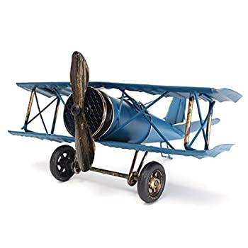 Large 8.5   Hang Retro Airplane Aircraft Model,Home Decor Ornament Toy,Home Office Desktop Decoration Retro World War I German Wings Model,ww1 Aircraft Model  Blue