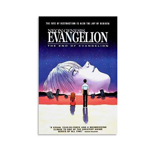 DSGFR Neon Genesis Evangelion Japanisches Anime-Poster, dekoratives Gemälde, Leinwand, Wandkunst, Wohnzimmer, Poster, Schlafzimmer, Malerei, 30 x 45 cm