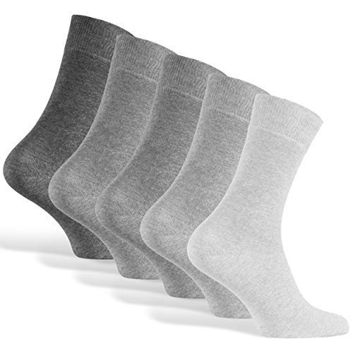 Socken Herren Herrensocken Graue 43 44 45 46 Grey Baumwollsocken Socks Baumwolle Business Männer Lange Strümpfe Casual Herrenstrümpfe Dünne Anzugsocken Größe Anzug Soken 10er Pack Gr.43-46 Grau