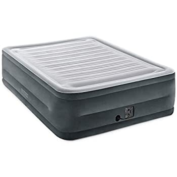 Intex Comfort Plush Elevated Dura-Beam Airbed with Internal Electric Pump Bed Height 22  Queen