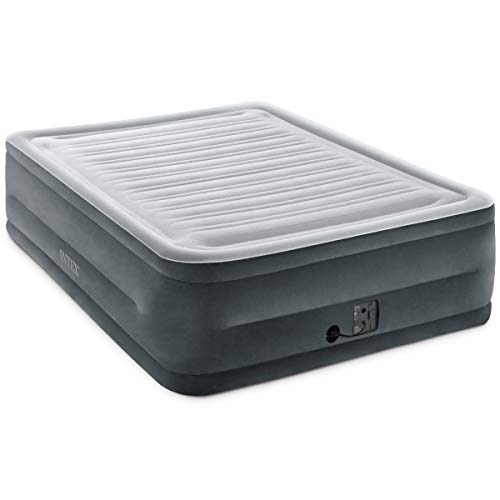 """Intex Comfort Plush Elevated Dura-Beam Airbed with Internal Electric Pump, Bed Height 22"""", Queen"""