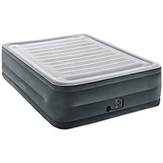 """Intex Comfort Plush Elevated Dura-Beam Airbed with Internal Electric Pump, Bed Height 22"""", Queen (B07F39F6XR) 